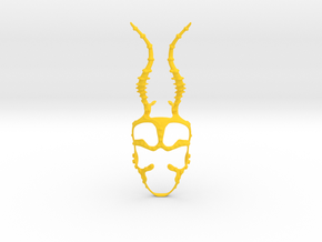 Bee Mask in Yellow Processed Versatile Plastic: Small