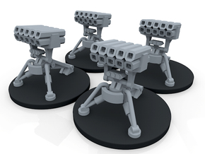 Infantry Anti Vehicle Turret - 4 Turrets in Smoothest Fine Detail Plastic