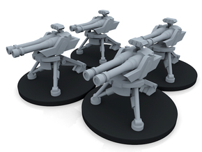 Infantry Sentry Gun Turret - 4 Turrets in Smooth Fine Detail Plastic