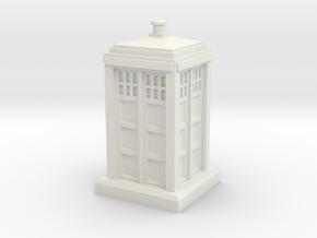 1:120 Police Box in White Natural Versatile Plastic