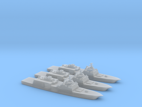 1/3000  Scale Marinette Marine FFG(X) set of 3 in Smooth Fine Detail Plastic