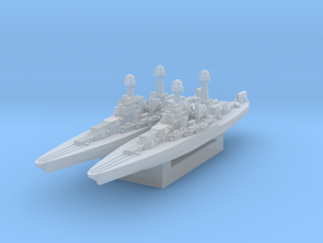 USS California 1930s 1/3000 in Smooth Fine Detail Plastic