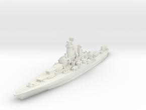 USS Tennessee 1945 1/1800 in White Natural Versatile Plastic