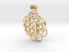 Chain Mail Pendant Z in 14k Gold Plated Brass