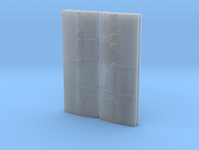 SM RCS doors - 4 parts in Smooth Fine Detail Plastic