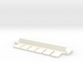 6 Tine Gel Comb (Single Piece) in White Processed Versatile Plastic