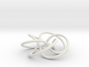 (5,3) Torus Knot in White Strong & Flexible