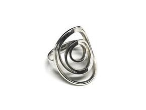 Orbit Ring in Polished Silver: 7 / 54