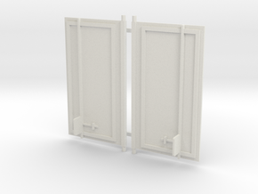 Replacement Semi Trailer Doors for Stompers in White Natural Versatile Plastic