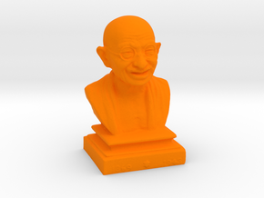 Gandhi miniature in Orange Processed Versatile Plastic: Medium
