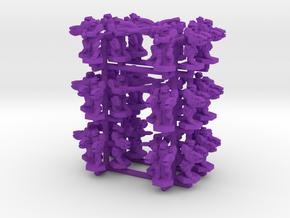Alien Army in Purple Processed Versatile Plastic