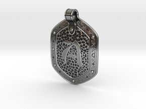 Hammered Pendant A in Antique Silver