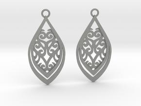 Nessa earrings in Gray PA12: Small