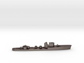 Italian Castore torpedo boat 1:3000 WW2 in Polished Bronzed-Silver Steel