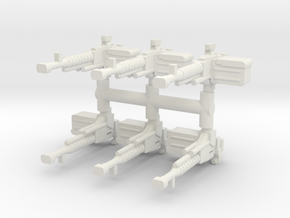 DShK heavy MG (x6) 1/56 in White Natural Versatile Plastic