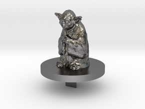 Yoda Trivial Pursuit Piece in Polished Nickel Steel
