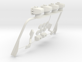Tamiya Mopar Jeep Light Bar Assy V2.0 in White Natural Versatile Plastic