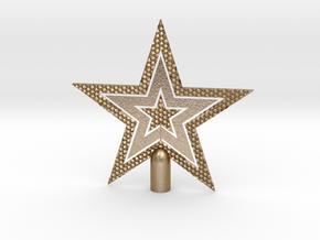 "Star Glisten Tree Topper - 16cm 6¼"" in Polished Gold Steel"