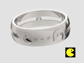 Pac-Man Ring in Polished Silver: 10 / 61.5