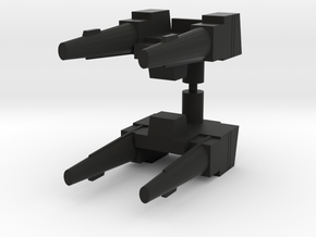 Headrobots Cobra Gun in Black Natural Versatile Plastic: Medium