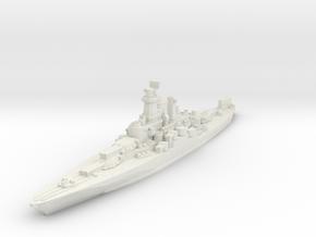 West Virginia Battleship 1944 1/2400 in White Natural Versatile Plastic