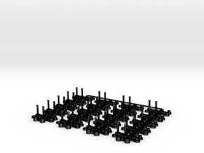 RollerChain with 2mm-spacing, 1mm-wide in Matte Black Steel