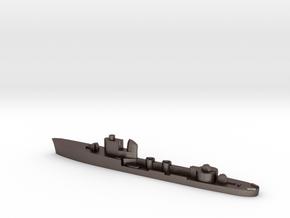 Italian Centauro torpedo boat 1:1800 WW2 in Polished Bronzed-Silver Steel