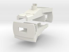 CFF Trichterkupplung für LGB Ovalrahmen-Loren in White Natural Versatile Plastic