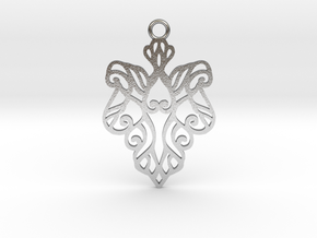 Alarice pendant metal in Natural Silver: Medium