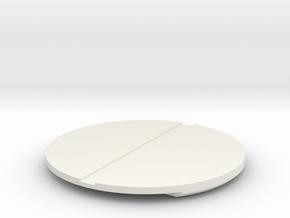 DISC5-FWD-2BBL-WH-STR-03 in White Natural Versatile Plastic