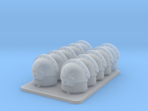 Space Templar V7 Compound Shoulder Pads in Smooth Fine Detail Plastic