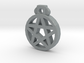 Pentagram Pendant in Polished Metallic Plastic