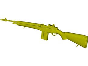 1/16 scale Springfield Armory M-14 rifle x 1 in Smooth Fine Detail Plastic