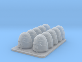 Space Templar V1 Thunder Style Shoulder Pads in Smooth Fine Detail Plastic