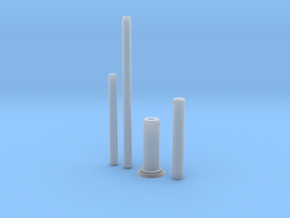 Small Cell Wireless Network Pole 1:24 Scale in Smooth Fine Detail Plastic