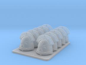 spaceTemplar-v3IronShoulderPads.stl in Smooth Fine Detail Plastic