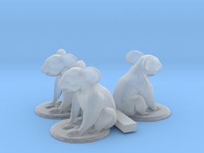 HO Scale Koala Bears in Smooth Fine Detail Plastic