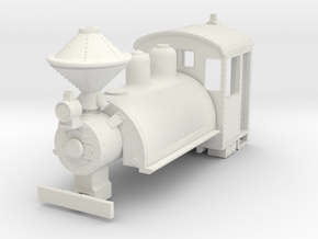 b-100-baldwin-0-6-0-saddletank-loco in White Natural Versatile Plastic