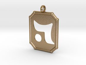 Dalath Pendent in Polished Gold Steel