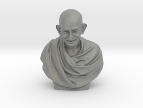 Gandhi bust in Gray PA12: Medium