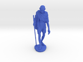 Gandhi with Stick in Blue Processed Versatile Plastic: Medium