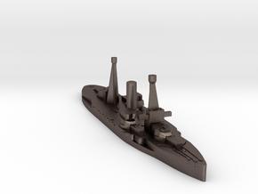 Spanish Jaime I battleship 1920 1:1800 in Polished Bronzed-Silver Steel