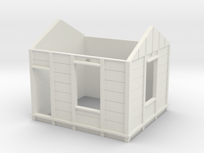 HO Gilmore PC Signal Box Walls in White Natural Versatile Plastic