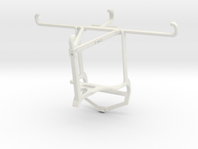 Controller mount for PS4 & Honor Play 3 - Top in White Natural Versatile Plastic