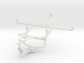 Controller mount for PS4 & Honor Play 3 - Front in White Natural Versatile Plastic