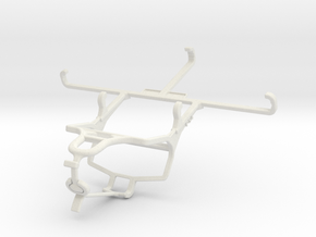 Controller mount for PS4 & Realme Q - Front in White Natural Versatile Plastic