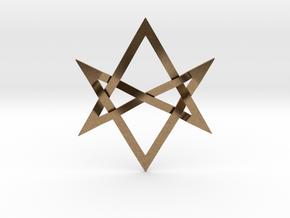 Large Unicursal Hexagram in Natural Brass