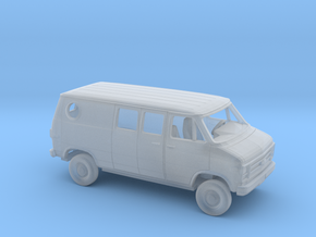 1/160 1979-83  Chevy G Custom Van Split Rear Side  in Smooth Fine Detail Plastic
