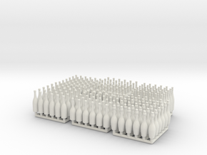 Bottles Ver01 .1:24_ Scale in White Natural Versatile Plastic