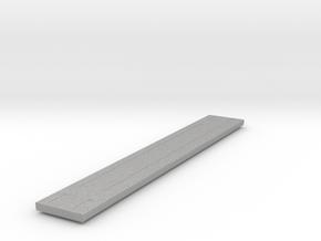 Heavyweight Flatcar - 68 foot - Aluminum - Zscale in Aluminum